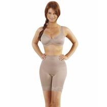 Cinta Modeladora Yoga Com Pernas C Renda Fundo Aberto 3004r