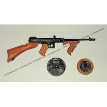 Miniatura Marca Furuta 1/6 Metralhadora Thompson Tommy Gun