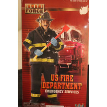Boneco Elite Force Bbi Us Fire Department Bombeiro Raro Unic