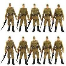Lote Tipo Gi Joe Soldados Russos C/10 Bonecos! 1:18