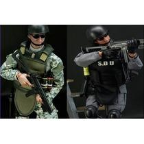 Boneco Militar Força Especial 30cm C/ 30 Pontos Articulação