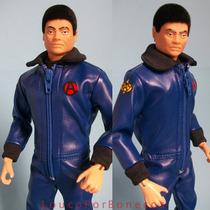 Falcon 80 Macacão Azul Gijoe Action Man Envio Grátis