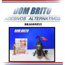 Adesivos Para O Gi Joe Dragonfly (jetcóptero Americano)