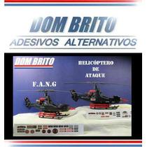 Adesivos Para Helicóptero De Ataque Ou Fang Comandos Em Ação