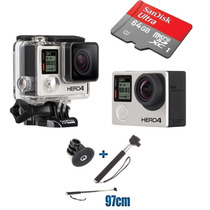 Gopro Hero 4 Black Edition Go Pro Hero4 Brinde+ 64gb +bastão