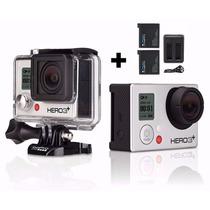 Gopro Camera Hero 3+ Silver Edition Full Wifi Hd Go Pro+32gb