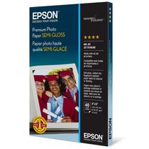 Papel Fotográfico Epson Premium Photo Paper, Semi Gloss