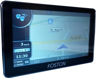 Gps Automotivo Foston Fs-707 C/ Camera De Ré, Tv, Tela 7