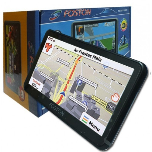 Gps Automotivo Foston Tela 7 Tv Digital, Radar, Atualizado.