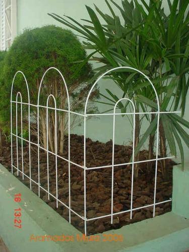 cerca para jardim sao paulo:Grade Para Jardim, (cerca) Média Redonda, Cor Branco – R$ 21,80 no