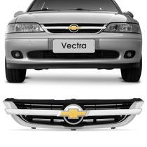 Grade Vectra 97 A 03 04 05 Esportiva Friso Cromado Emblema