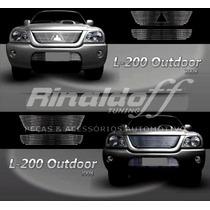 Sobregrade L200 Outdoor 2008 Aço Inox 2 Peças Frete Gratis
