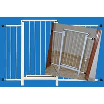 Portão Grade Proteção Porta Criança Pet Cães 119 Cm A 124 Cm