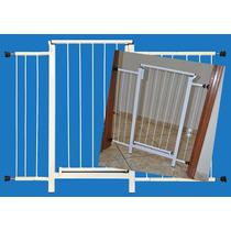 Portão Grade Proteção Porta Criança Pet Cães 114 Cm A 119 Cm