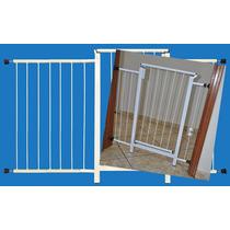 Portão Grade Proteção Porta Criança Pet Cães 129 Cm A 134 Cm