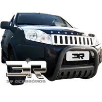 Grade Cromada Ecosport + Emblema Ecosport + Frete Grátis 3r