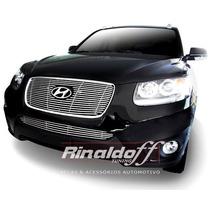 Sobre Grade Santa Fe 2011 Aço Inox Darta 2 Peças Hyundai