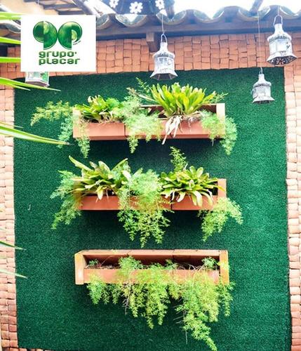 grama sintetica para jardim em curitiba:Grama Sintética Decorativa Revestimento Muro Parede Viva – R$ 29,90