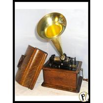 Antigo Cilindro De Edison P/ Fonógrafos, Boa Qualidade Som