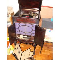 Gramofone Mesa Casa Edison Original, Raro Voxphon, Perfeito!