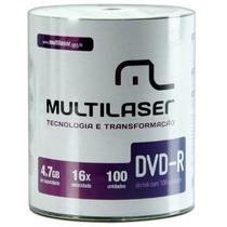 Dvd - R Virgem Shrink Multilaser Pino 100 Unidades Dv037