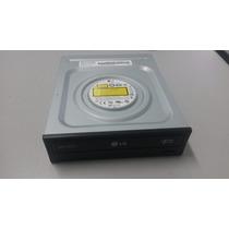 Gravador Cd/dvd Drive Sata Lg 12x/48x - Gh24nsb0 Preto Fosco