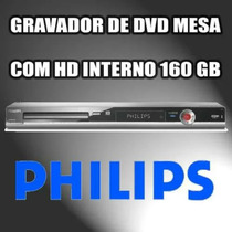 Gravador De Dvd De Mesa Philips Dvdr 3455 Com Hd 160gb