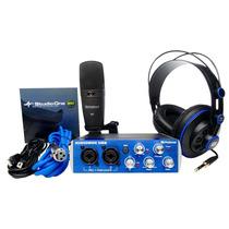 Presonus Audiobox Studio Microfone + Interface + Fone + Daw