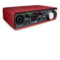 Interface De Áudio Focusrite Usb Scarlett 2i2 2 Entradas 2