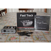 Placa Interface M Audio Fast Track 2 Canais Mais Pro Tools