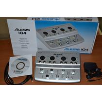 Placa Interface De Audio 4 Canais Alesis Io4 E Software