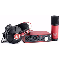 Interface Focusrite Scarlett 2i2 Kit Home Studio