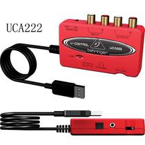 Interface De Áudio Usb Pc/ Mac U-control Uca222 Behringer