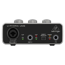 Behringer Um2 . Interface De Áudio Usb . Loja . Nf + Gtia !