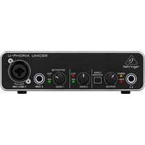 Behringer Umc22 . Interface De Áudio Usb . Loja . Gtia !!!