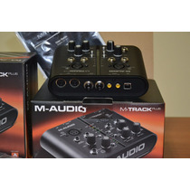 Placa Interface M Audio M Track Plus Nova 2x2 Canais Usb