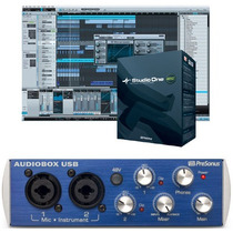 Interface De Gravação Audiobox Usb Presonus + Studio One