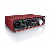 Focusrite Scarlett 2i2 Interface Áudio Placa Externa Usb Som
