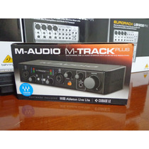 Placa De Audio M-audio M-track Plus Mkii Usb (novo)