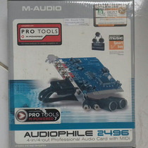 Placa De Som Pci M-audio Audiophile 2496