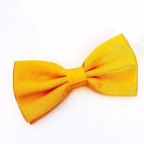 Gravata Borboleta Amarela Com Regulador Infantil