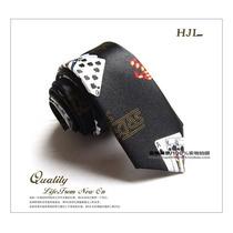 Gravata Especial Black Poker Baralho Cartiador Importada