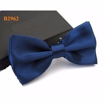 Gravata Borboleta Azul Marinho C Regulador Adulto E Infantil