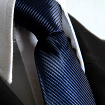 Gravata Azul Petroleo Semi Slim Com No