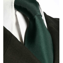 Gravata Verde Escuro Tradicional Sem Nó