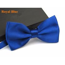 Gravata Borboleta Azul Royal Com Regulador Adulto E Infantil