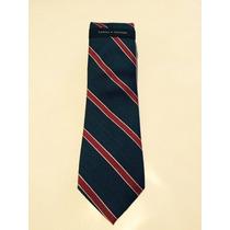 Gravata Tommy Hilfiger Azul Listras Vermelha