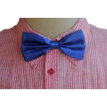 Gravata Borboleta Adulto Infantil Unissex - Azul Royal