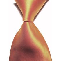 Gravata Seda Laranja Feita Mão Gvt 555