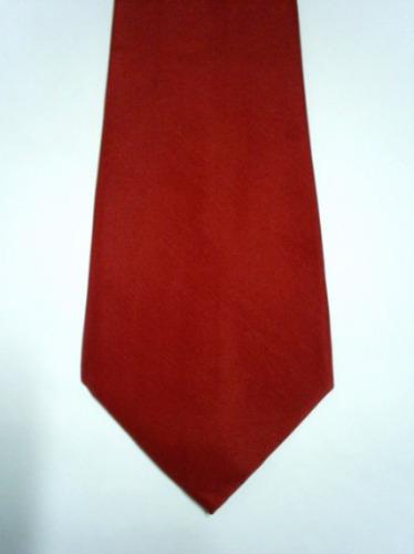 Gravatas Masculinas C/ Nó Pronto - Cor Vermelha - Poliéster